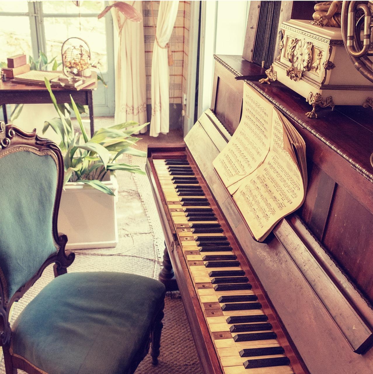 Une partition de piano ancienne
