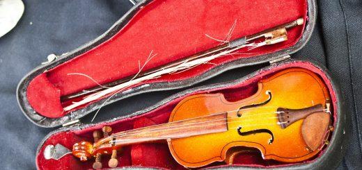 étui de violon avec archet